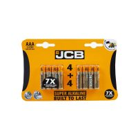 JCB MN2400 Super Alkaline Battery AAA Size 4 Plus + 4 Pack (8 Pack)
