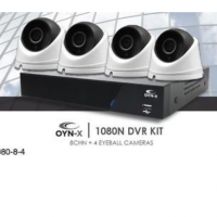 OYN-X 8-Channel DVR CCTV Kit with 4x 1080p Dome Cameras, 1TB HDD –  KIT-1080-8-4