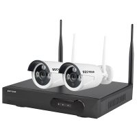 SECYOUR 8 Channel 2 MP WiFi NVR with 2 x 2MP Bullet Cameras (1 TB HDD)