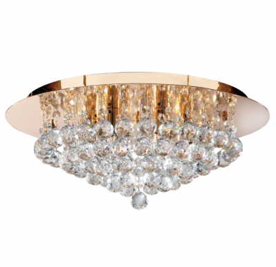 Searchlight Hanna 2 Lights Gold Round Crystal Ball Wall Fitting Bracket Light